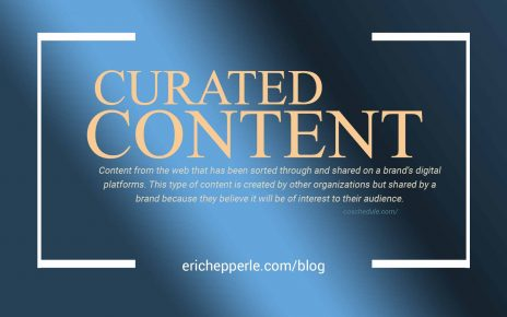Blogthumb: Curated Content (blue gold) (c. Eric Hepperle, 2021)