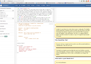 screenshot of Eric CodeSlayer2010 Hepperle's jsfiddle jQuery -- fancy paragraph tag style 01