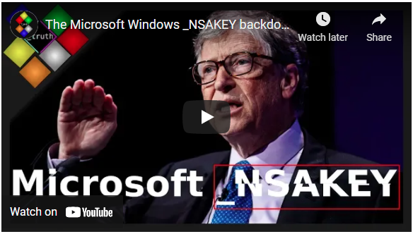 Video: The Hated One - Microsoft NSAKEY