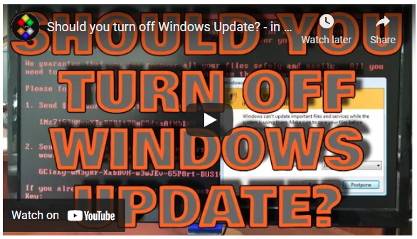 Hated One: Should You Turn Off Windows Update?