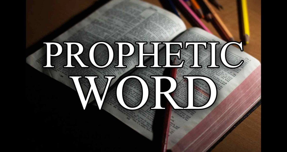 Blog Thumbnail: Prophetic Word in front of Bible (Copyright Eric Hepperle, 2021)
