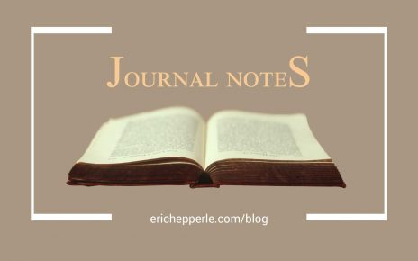 Blogthumb: Journal Notes (brown) (c. Eric Hepperle, 2021)